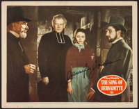 "The Song of Bernadette (20th Century Fox, 1943). Autographed Lobby Card (11"" X 14""). Drama"
