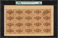 Fractional Currency:First Issue, Fr. 1230 5¢ First Issue Uncut Sheet of 20 PMG Choice Extremely Fine45 Net.. ...