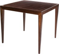 Furniture , A Severin Hansen Jr. for Haslev Mobelsnedkeri Mahogany Coffee Table, circa 1950. 23-3/4 h x 26-1/8 w x 26-1/8 d inches (60.3...
