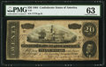Confederate Notes:1864 Issues, Bogus Back Print T67 $20 1864 PF-38 Cr. 538.. ...