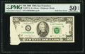 Error Notes:Foldovers, Fold Over Error Fr. 2077-L $20 1990 Federal Reserve Note. PMG AboutUncirculated 50 EPQ.. ...