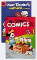 Golden Age (1938-1955):Cartoon Character, Walt Disney's Comics and Stories #97 and 211 Group (Dell, 1948-58)Condition: Average VF.... (Total: 2 Comic Books)