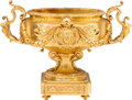 Decorative Arts, French:Other , A Louis XVI-Style Gilt Bronze Jardinière, late 19th century. 17-1/4h x 24 w x 11-1/2 d inches (43.8 x 61.0 x 29.2 cm). PR...