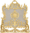 Decorative Arts, French:Other , A Louis XV-Style Gilt Bronze Firescreen and Fender, late 19th-early20th century. 30-3/4 inches high x 25 inches wide (78.1 ... (Total:2 Items)