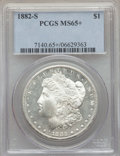 Morgan Dollars, 1882-S $1 MS65+ PCGS. PCGS Population: (19091/6174 and 262/302+). NGC Census: (19221/8375 and 222/232+). CDN: $120 Whsle. B...