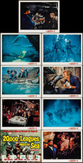 """Movie Posters:Science Fiction, 20,000 Leagues Under the Sea (Buena Vista, R-1963). Lobby Card Setof 9 (11"""" X 14""""). Science Fiction.. ... (Total: ..."""