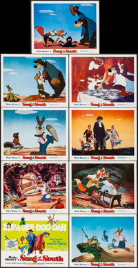 """Song of the South (Buena Vista, R-1973). Lobby Card Set of 9 (11"""" X 14""""). Animation. ... (Total: 9 Items)"""
