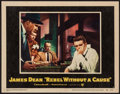 "Movie Posters:Drama, Rebel Without a Cause (Warner Brothers, 1955) Very Fine-. Lobby Card (11"" X 14""). Drama...."