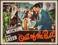 "Out of the Past (RKO, 1947). Lobby Card (11"" X 14""). Film Noir"