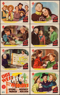 """Movie Posters:Comedy, Out West with the Hardys (MGM, 1938). Lobby Card Set of 8 (11"""" X14""""). Comedy.. ... (Total: 8 Items)"""
