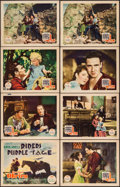 """Movie Posters:Western, Riders of the Purple Sage (Fox, 1931). Title Lobby Card & Lobby Cards (7) (11"""" X 14""""). Western.. ... (Total: 8 Items)"""