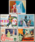 "Movie Posters:Animation, Cinderella & Others Lot (RKO, 1950). Lobby Cards (4) & Title Lobby Card (11"" X 14""). Animation.. ... (Total: 5 Items)"