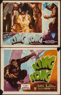 "Movie Posters:Horror, King Kong (RKO, R-1946). Title Lobby Card & Lobby Card (11"" X 14""). Horror.. ... (Total: 2 Items)"