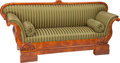 Furniture : Continental, An Impressive South German Biedermeier Cherry Sofa with CornucopiaMotif, Mainz Region, Germany, circa 1830. 42 h x 92 w x 2...