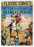 Golden Age (1938-1955):Classics Illustrated, Classic Comics #27 The Adventures of Marco Polo First Edition(Gilberton, 1946) Condition: FN-....