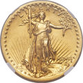 High Relief Double Eagles, 1907 $20 High Relief, Wire Rim -- Rim Filing, Cleaned -- NGC Details. Unc....