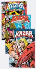 Modern Age (1980-Present):Miscellaneous, Ka-Zar Short Box Group (Marvel, 1981-84) Condition: Average FN/VF....