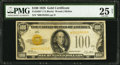 Small Size:Gold Certificates, Fr. 2405* $100 1928 Gold Certificate. PMG Very Fine 25 Net.. ...