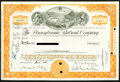 Miscellaneous:Other, Pennsylvania Railroad Company Stock Certificates 1; 100 Shares1959-60.. ... (Total: 2 items)