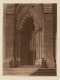 Photographs, William Gordon Shields (American, 1883-1947). St. Patrick's Cathedral, 1916. Gum bichromate. 4 x 3 inches (10.2 x 7.6 cm...