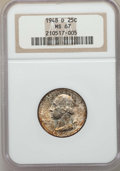 Washington Quarters, 1948-D 25C MS67 NGC. NGC Census: (101/0). PCGS Population: (85/0).CDN: $525 Whsle. Bid for problem-free NGC/PCGS MS67. Min...