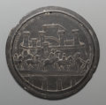 Decorative Arts, Continental:Other , A Grand Tour Carved Slate Roundel After a Medal Design by Matteo de'Pasti, late 19th century. 11-1/2 inches diameter (29.2 c...