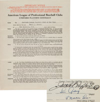 1931 Lou Gehrig Signed New York Yankees Player's Contract, PSA/DNA Mint 9