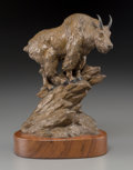 Fine Art - Sculpture, American:Contemporary (1950 to present), Clark Everice Bronson (American, b. 1939). Trail's End,1979. Bronze with brown patina. 7 inches (17.8 cm) high on a 1 i...