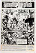 Dick Ayers and Tony DeZuniga Jonah Hex #47 Complete 17-Page Story Original Art ( Comic Art