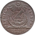 Colonials, 1787 CENT Fugio Cent, STATES UNITED, 4 Cinquefoils, Pointed Rays, MS64 Brown PCGS. N. 13-X, W-6855, R.2. ...