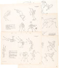 animation art:Model Sheet, Bambi Deer Studio Model Sheets Group of 5 (Walt Disney, 1942). ... (Total: 5 Items)