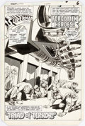 Original Comic Art:Splash Pages, Curt Swan and Dave Hunt DC Comics Presents #77 Splash Page 5Original Art (DC, 1985)....