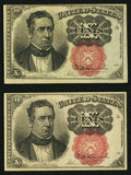 Fractional Currency:Fifth Issue, Two Fr. 1266 10¢ Fifth Issue Notes About New or Better.. ...(Total: 2 notes)