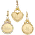 Estate Jewelry:Other, Diamond, Gold Charms, Penny Preville. ... (Total: 3 Items)