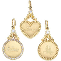 Diamond, Gold Charms, Penny Preville