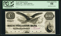Obsoletes By State:Massachusetts, Quincy, MA- Mount Wollaston Bank $100 Aug. 8, 1853 G16 ex-ABNCoProof. ...