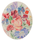 Works on Paper, Katherine Cameron (British, 1874-1965). Bouquet of Flowers (two works). Watercolor on paper, each. 8 x 6 inches (20.3 x ... (Total: 2 Items)