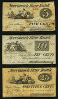 Obsoletes By State:New Hampshire, Manchester, NH- O. Barton & Co. at Merrimack River Bank 5¢; 10¢; 25¢ Nov. 8, 1862. ... (Total: 3 notes)