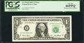 Error Notes:Mismatched Serial Numbers, Fr. 1926-B $1 2001 Federal Reserve Note. PCGS Gem New 66PPQ.. ...