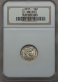 Barber Dimes: , 1911 10C MS65 NGC. NGC Census: (129/55). PCGS Population: (154/112). MS65. Mintage 18,870,544. ...