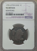 Large Cents: , 1795 1C Lettered Edge -- Scratches -- Details NGC. VG. NGC Census: (4/20). PCGS Population: (13/73). VG8 . Mintage 37,000. ...
