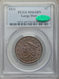 1820 1C Large Date MS64 Brown PCGS. CAC. PCGS Population: (224/162). NGC Census: (163/175). CDN: $1,125 Whsle. Bid for p...