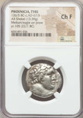 Ancients:Greek, Ancients: PHOENICIA. Tyre. Ca. 126/5 BC-AD 67/8. AR shekel (13.39gm). NGC Choice Fine....