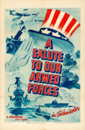 "Movie Posters:War, A Salute to Our Armed Forces (Warner Brothers, 1940). Vitaphone OneSheet (27"" X 41"").. ..."