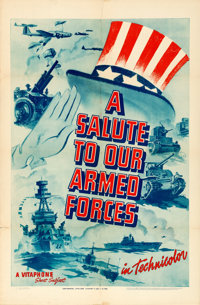 "A Salute to Our Armed Forces (Warner Brothers, 1940). Vitaphone One Sheet (27"" X 41"")"