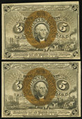 Fractional Currency:Second Issue, Fr. 1232 5¢ Second Issue Very Fine-Extremely Fine or Better TwoExamples.. ... (Total: 2 notes)