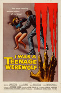 "Movie Posters:Horror, I Was a Teenage Werewolf (American International, 1957). One Sheet (27"" X 41"") Reynold Brown Artwork.. ..."