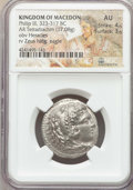Ancients:Greek, Ancients: MACEDONIAN KINGDOM. Philip III Arrhidaeus (323-317 BC).AR tetradrachm (17.08 gm). NGC AU 4/5-3/5. ...