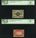 Fractional Currency:Third Issue, Fr. 1236SP 5¢ Third Issue Narrow Margin Pair.. ... (Total: 2 notes)