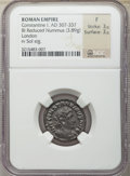 Ancients:Ancient Lots , Ancients: GROUP LOTS. Roman Imperial. Maximinus II and ConstantineI (AD 307-337). Lot of four (4) AE folles. NGC Fine-Choice VF....(Total: 4 coins)